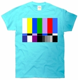 TV Colors Bars Organic Screen Picture Retro T-Shirt
