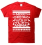 Ugly Christmas Sweater Merry Xmas Ya Filthy Animal T-Shirt