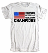 Undisputed Back to Back World War Champions American Apparel T-Shirt