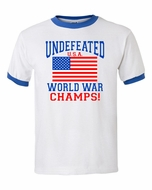 United States of America Undefeated World War Champs Ringer T-Shirt