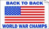 USA Back to Back World War Champs Bumper Sticker