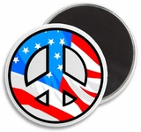 USA Flag Peace Sign Magnet