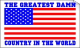 USA The Best Damn Country In the World Bumper Sticker
