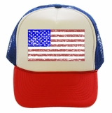 Vintage American Flag Red White Blue Trucker Hat