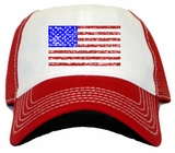 Vintage USA American Flag Trucker Hat