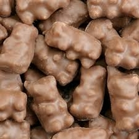 Milk Chocolate Covered Gummy Bears - One Pound