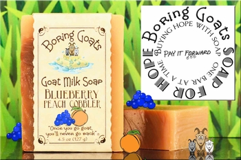 """Blueberry Peach Cobbler"" Goat Milk Soap for Hope"