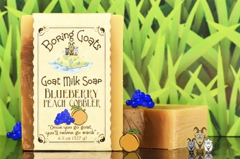 """Blueberry Peach Cobbler"" Goat Milk Soap"