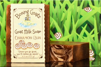 """Cinnamon Bun"" Goat Milk Soap"