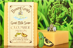"""Cucumber Melon"" Goat Milk Soap"