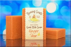 """Ginger Pear"" Goat milk Soap"