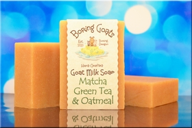 Matcha Green tea and Oatmeal Goat Milk Soap