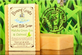 """Matcha green tea and Oatmeal"" Goat Milk Soap"