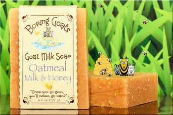 """Oatmeal Milk and Honey"" Goat Milk Soap"