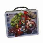 Avengers Assemble White Tin Lunch Box