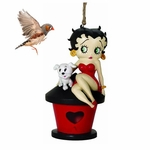 Betty Boop with Pudgy the Dog Birdhouse