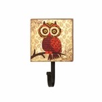 Retro Owl Wall Hook - Big Eyes