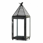 Black Bird Iron Lantern Large