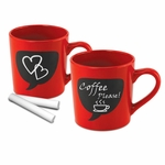 Chalkboard Coffee Mug Set
