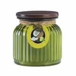 Coconut Lime Ribbed Jar Candle