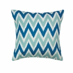 Cool Waves Chevron Pillow