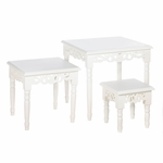 Cottage Chic Nesting Accent Tables