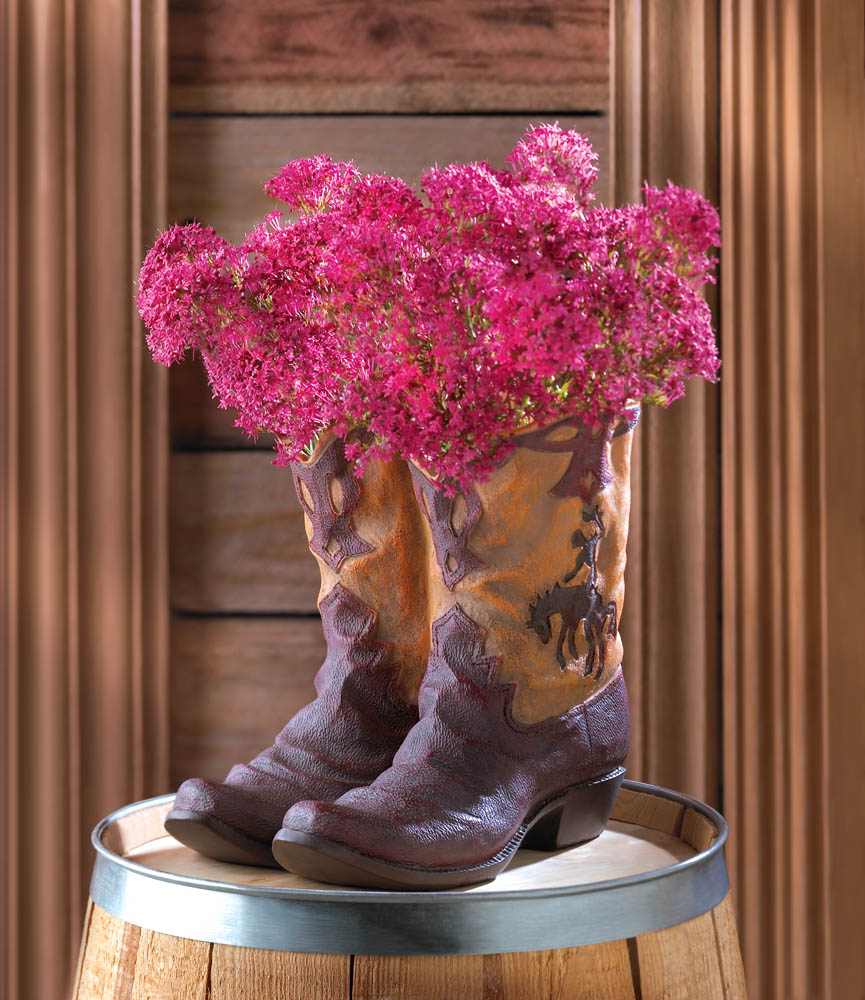 Cowboy Boot Planter at Eastwind Wholesale Gift Distributors