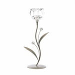 Crystal Flower Single Candle Holder
