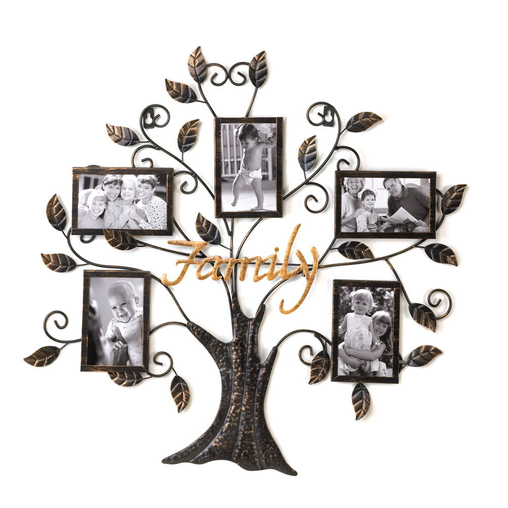 Wallverbs Family Tree Personalized Picture Frame Set: Family Tree Picture Frame Wall Decor Wholesale At Eastwind