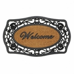 Frill Framed Welcome Entry Mat