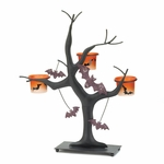Spooky Halloween Bat Candle Tree
