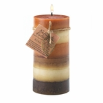 Harmony Leaf Tall Pillar Candle