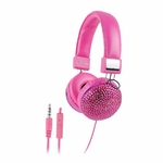 Headphones Bling Pink