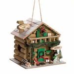 Holiday Mountain Lodge Birdhouse