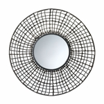 Knotted Rattan Wall Mirror