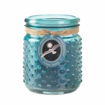 Ocean Breeze Hobnail Jar Candle