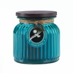 Ocean Breeze Ribbed Jar Candle