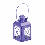 Purple Railway Candle Lantern Lamp