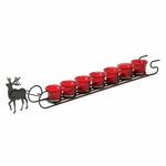 Reindeer Sleigh Candle Display