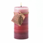 Relaxation Leaf Tall Pillar Candle