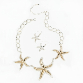 Shimmering Starfish Jewelry Set