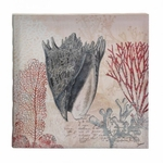 Spiked Conch Shell Canvas Wall Art