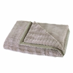 �Taupe Faux Fur Throw Blanket
