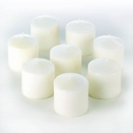 Unscented Mini Pillar Candle Set