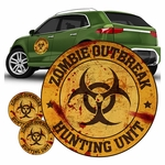 Zombie Outbreak Hunting Unit Car Decal Set
