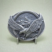 Eagle In Flight New Legend Silver Plating Western Belt Buckle