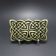 Original Vintage Bronze Celtic Knot Belt Buckle