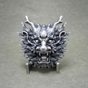 Silver Plated Real Nature Peal Rhinestones Dragon Belt Buckle