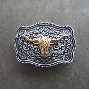 Small Size Men Belt Buckle Original Bull Head Western Belt Buckle