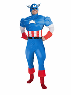 Adult Captain America Costume - Deluxe Muscle Chest